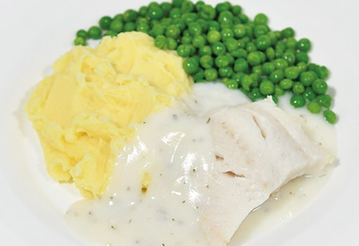 Fish in parsley sauce